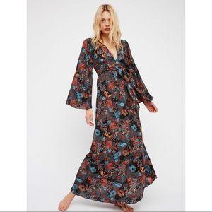 Free people wild laurel tiger maxi dress medium